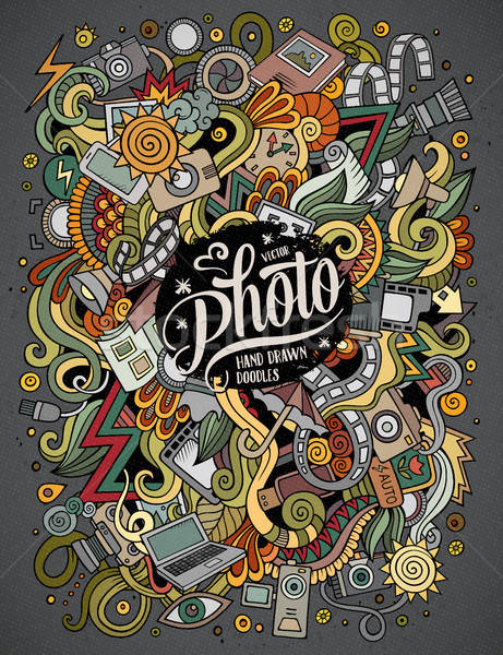 Desenho animado bonitinho foto ilustração Foto stock © balabolka