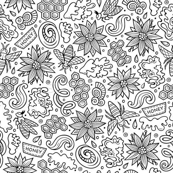 Desenho animado bonitinho mel linha Foto stock © balabolka