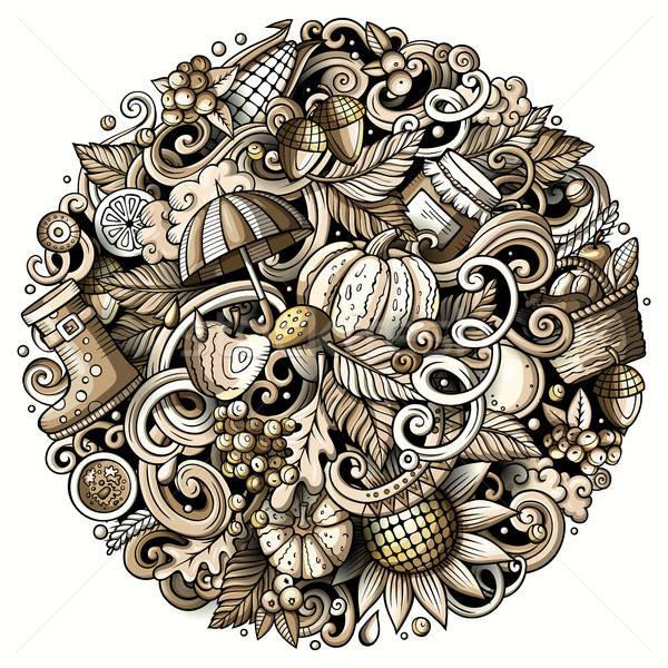 Cartoon cute najaar illustratie Stockfoto © balabolka