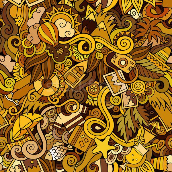 Senza soluzione di continuità estate viaggio abstract pattern pesce Foto d'archivio © balabolka