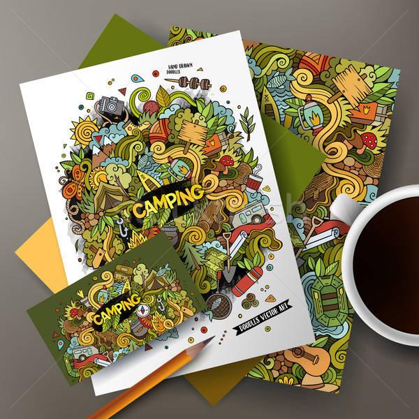 漫画 ベクトル キャンプ いたずら書き 企業 アイデンティティ ストックフォト © balabolka