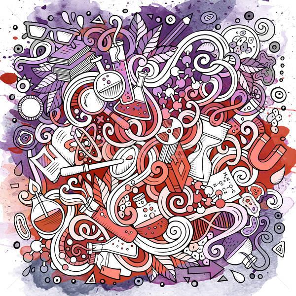 Desenho animado bonitinho ciência ilustração Foto stock © balabolka