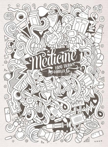 Stock photo: Cartoon cute doodles hand drawn Medical illustration
