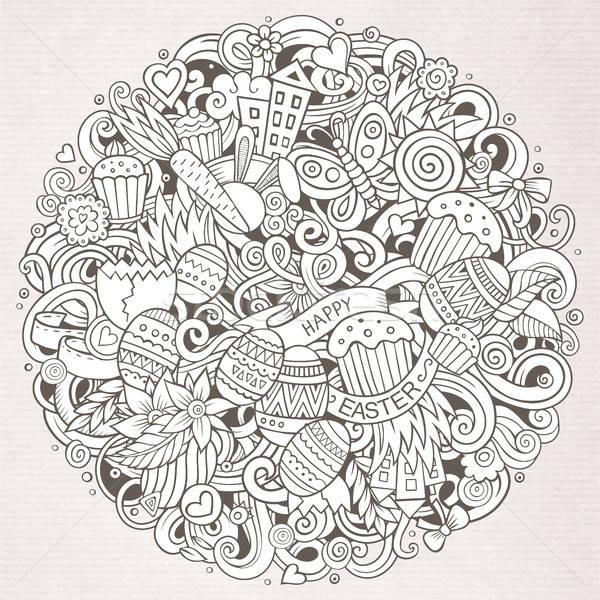 Cartoon vettore doodle buona pasqua illustrazione Foto d'archivio © balabolka