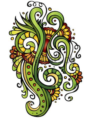 Fantasy vector fairy-tale floral ornament Stock photo © balabolka