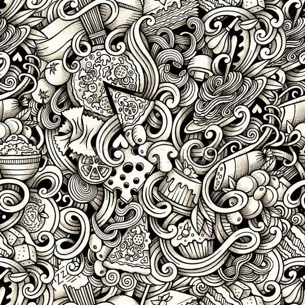 漫画 手描き のイタリア料理 行 ストックフォト © balabolka