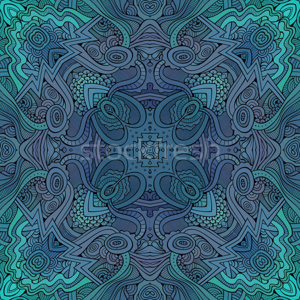 Abstract vector decorative ethnic floral seamless pattern Stock photo © balabolka