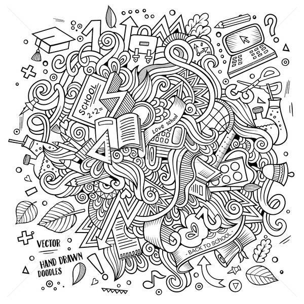 Desenho animado escolas ilustração bonitinho Foto stock © balabolka