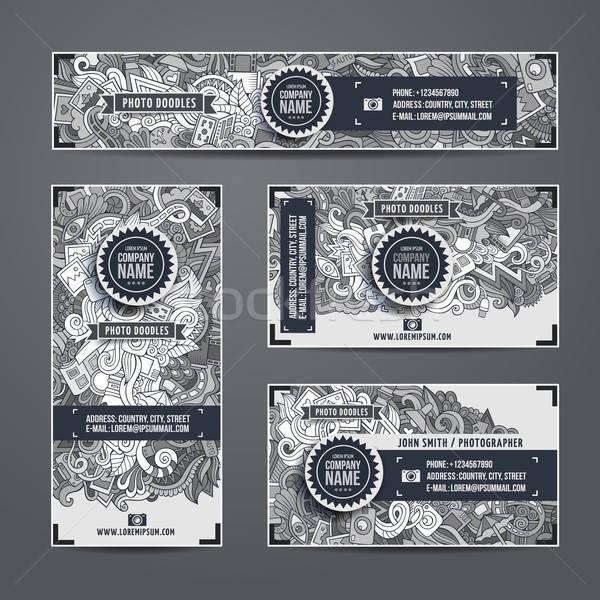 Corporate Identity doodles photo theme Stock photo © balabolka