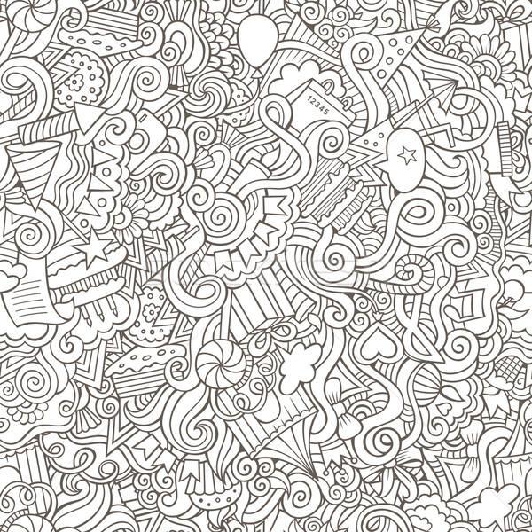 Stock photo: Holiday seamless pattern
