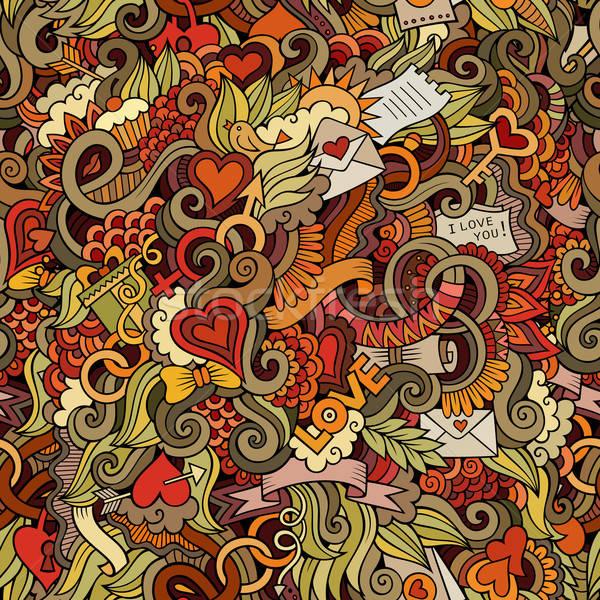 Firkák szeretet vektor végtelen minta absztrakt dekoratív Stock fotó © balabolka