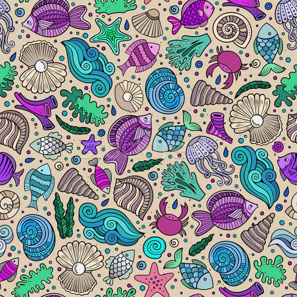 Stok fotoğraf: Karikatür · su · hayat · deniz · renkli