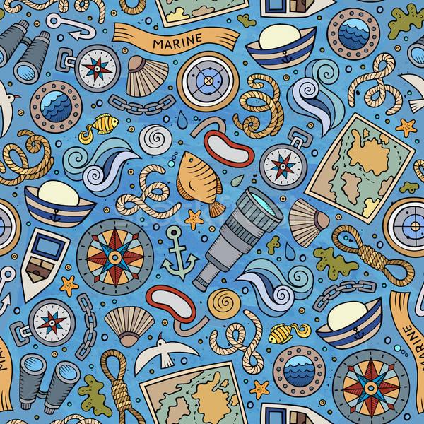 Desenho animado marinha colorido detalhado Foto stock © balabolka