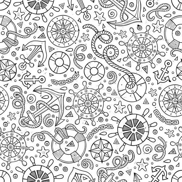 漫画 かわいい 手描き 海洋 ストックフォト © balabolka