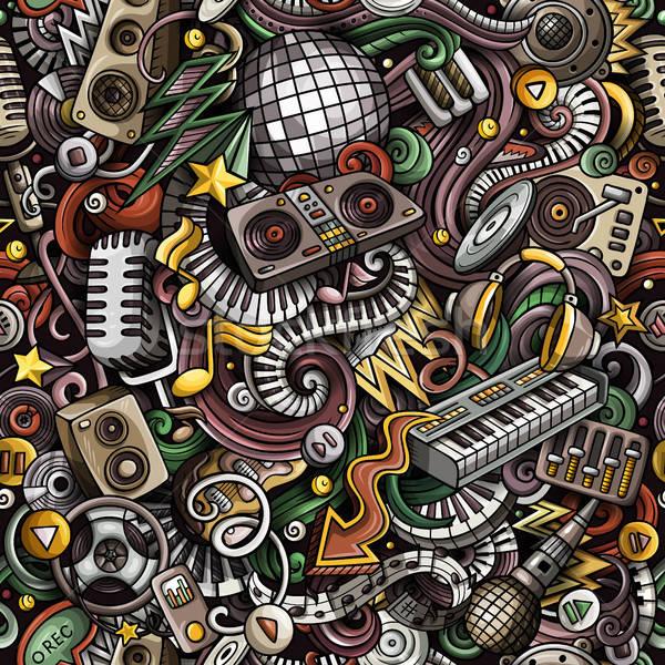 Desenho animado bonitinho discoteca música Foto stock © balabolka