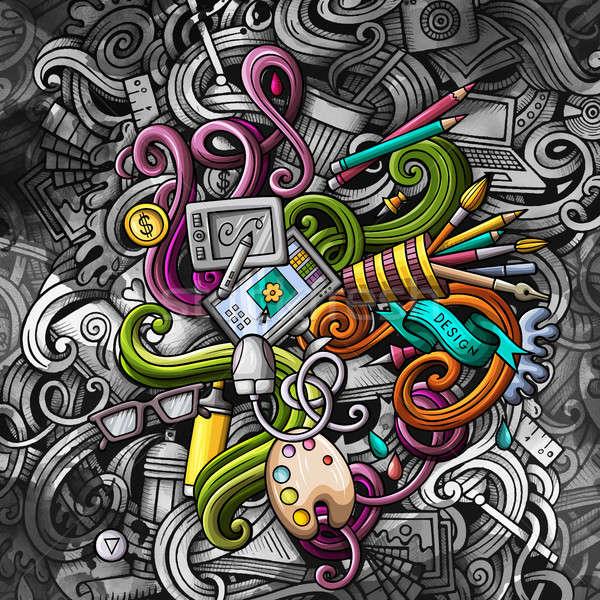 Scarabocchi graphic design illustrazione creativo arte grafica Foto d'archivio © balabolka