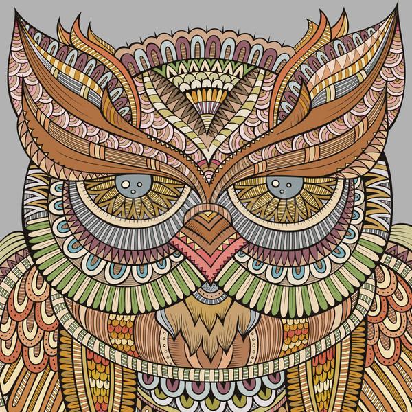 декоративный декоративный совы птица фон искусства Сток-фото © balabolka