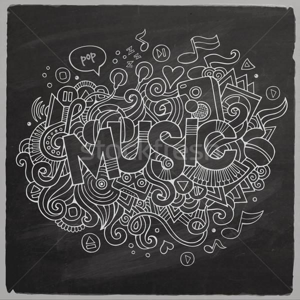 Сток-фото: музыку · стороны · Элементы · доске · назад