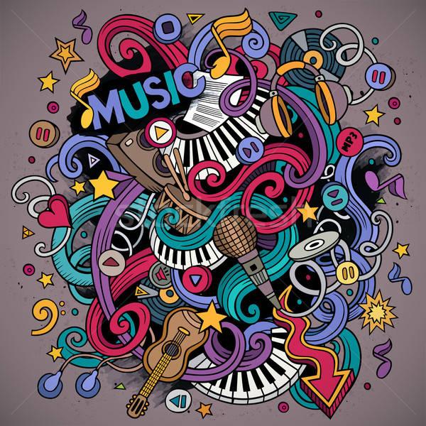 Desenho animado musical ilustração colorido detalhado Foto stock © balabolka