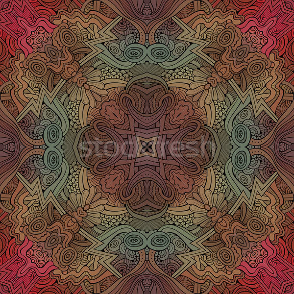 Abstract vector decorative ethnic hand drawn sketchy contour sea Stock photo © balabolka