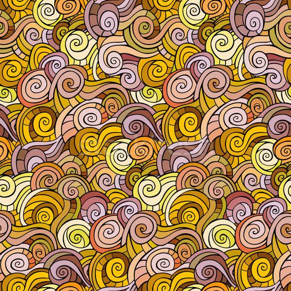 Waves and curls pattern Stock photo © balabolka