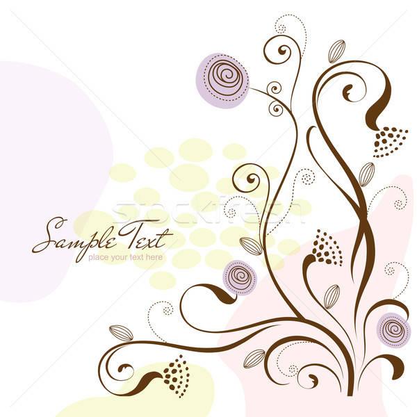 Bloemen vector formaat bloem textuur Stockfoto © balasoiu