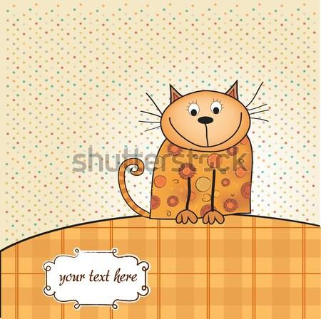 greeting card with small dog Stock photo © balasoiu