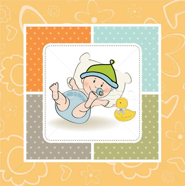 赤ちゃん 少年 シャワー カード 実例 ベクトル ストックフォト © balasoiu