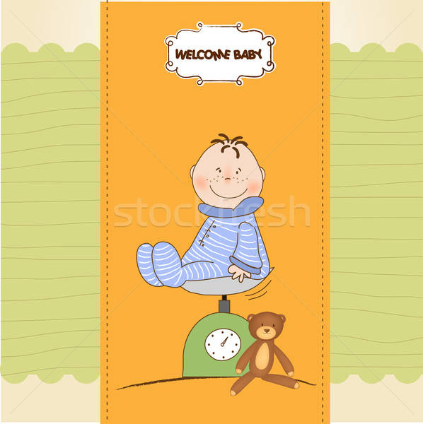 baby boy shower announcement Stock photo © balasoiu