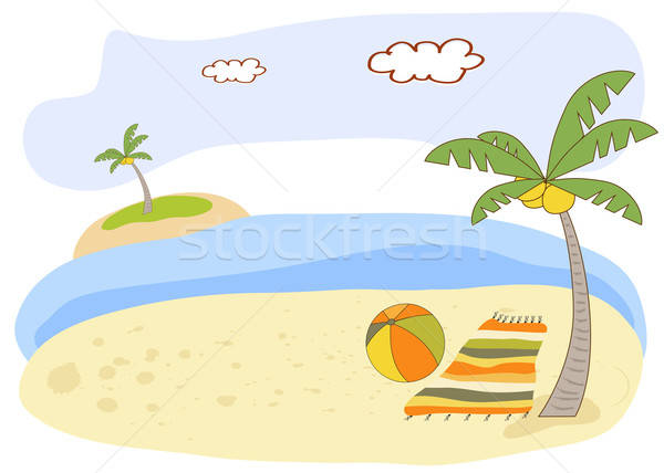beautiful beach landscape Stock photo © balasoiu