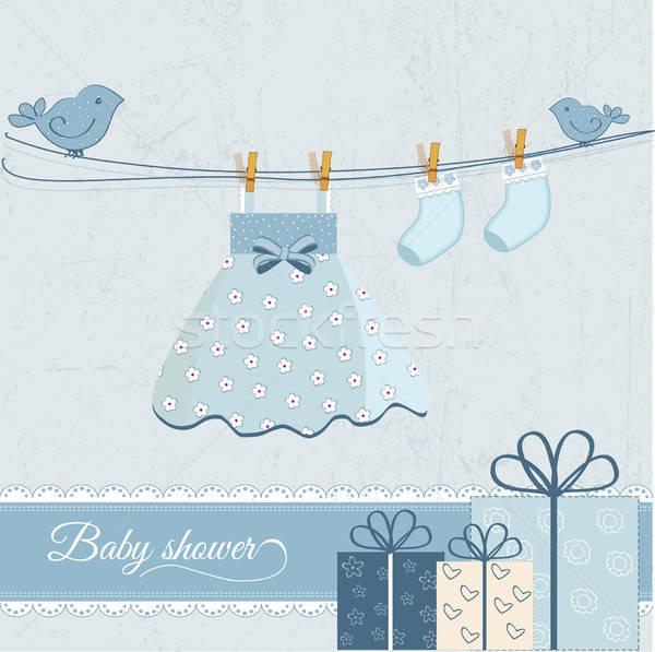 Baby girl announcement Stock photo © balasoiu