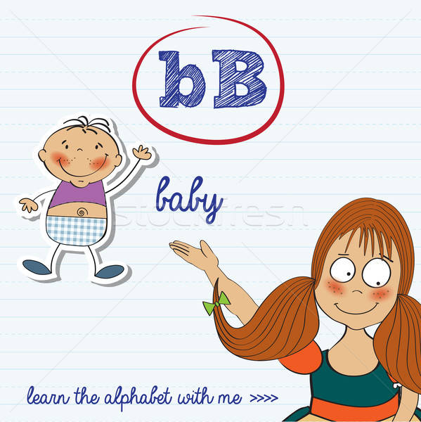 alphabet worksheet of the letter b Stock photo © balasoiu