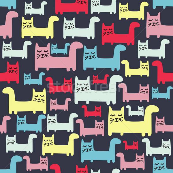 Kediler vektör format dizayn eğlence Stok fotoğraf © balasoiu