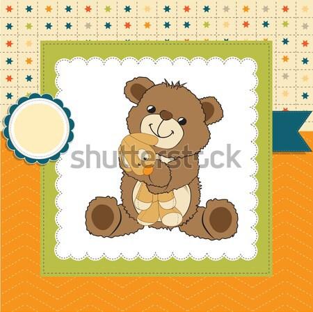 romantic baby shower card Stock photo © balasoiu