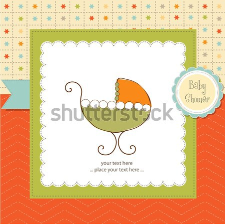 baby shower card with gift boxes Stock photo © balasoiu