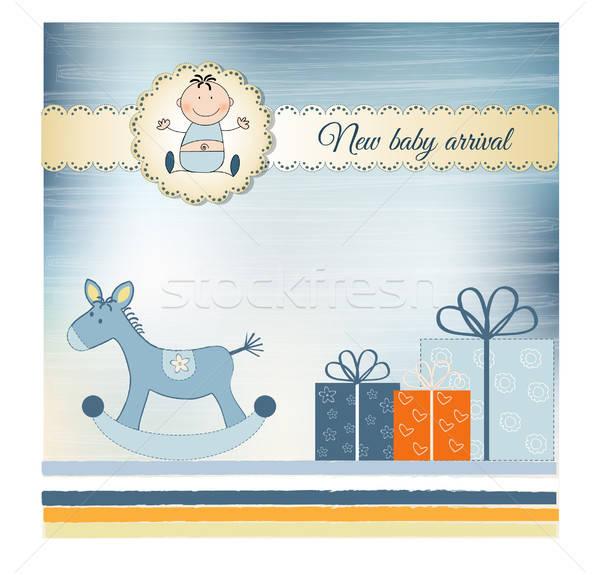 New Baby greeting card Stock photo © balasoiu