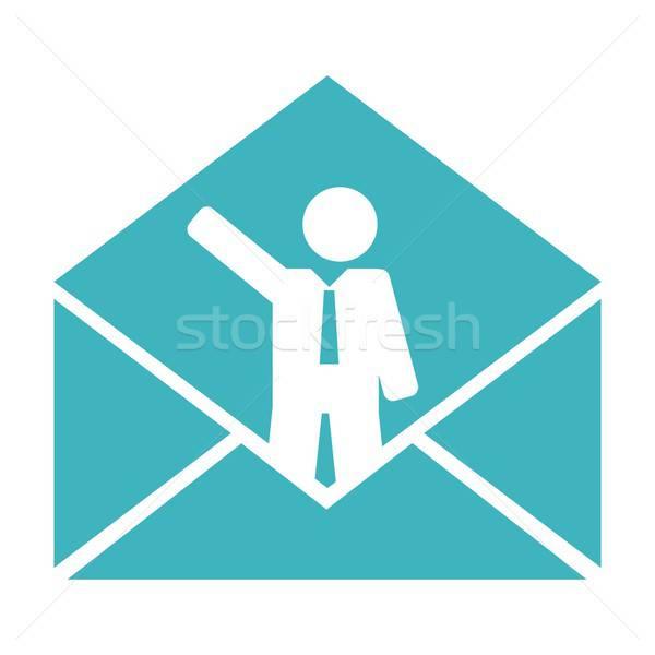Negocios mail ilustración vector formato oficina Foto stock © balasoiu