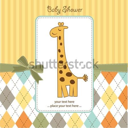Stok fotoğraf: Bebek · erkek · duş · kart · soyut · doğum · günü
