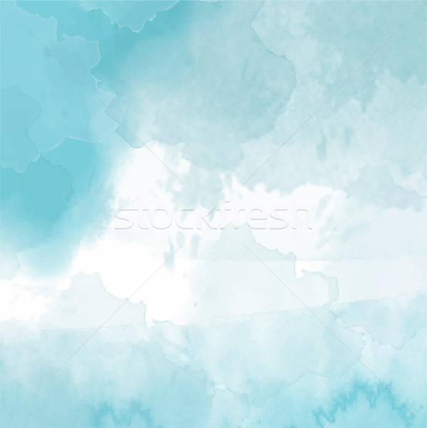美しい 手 描いた 水彩画 抽象的な デザイン ストックフォト © balasoiu