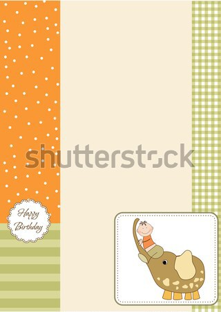 funny shower card with long dog Stock photo © balasoiu
