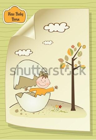 ребенка прикладом душу карт улыбка Сток-фото © balasoiu