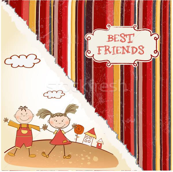 happy friends Stock photo © balasoiu