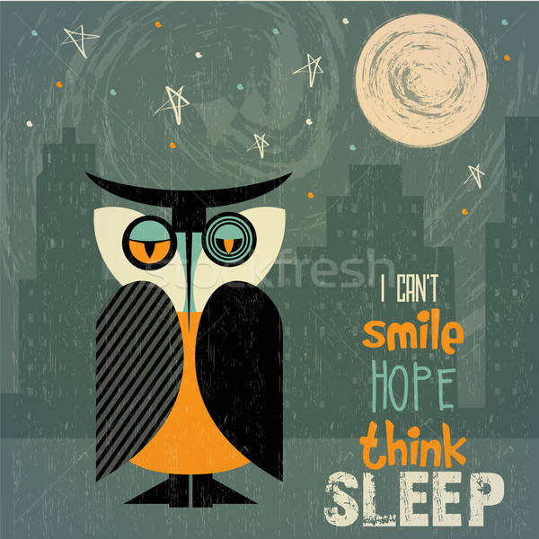 Stock photo: owl with insomnia
