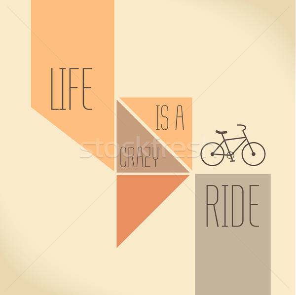 Motivation Quote - Life is a crazy ride Stock photo © balasoiu
