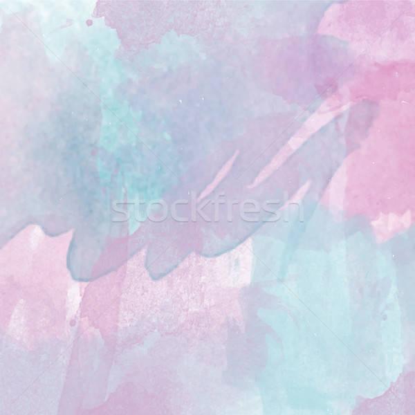 Abstrato vetor aquarela colorido modelo lugar Foto stock © balasoiu