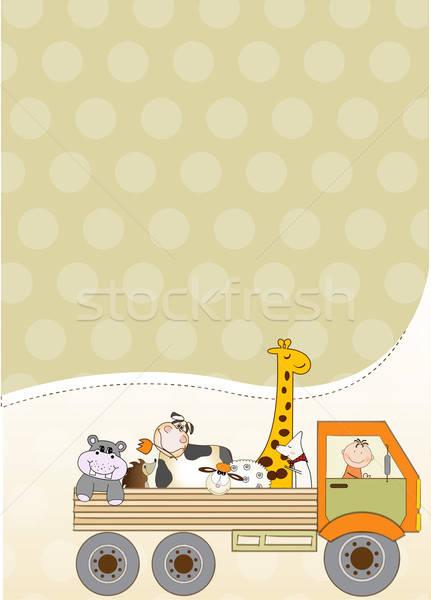 birthday card with toys Stock photo © balasoiu