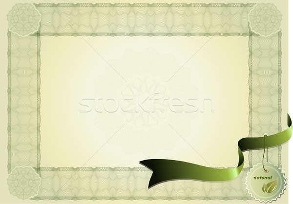 バイオ 証明書 ヴィンテージ 健康 証書 自然 ストックフォト © balasoiu