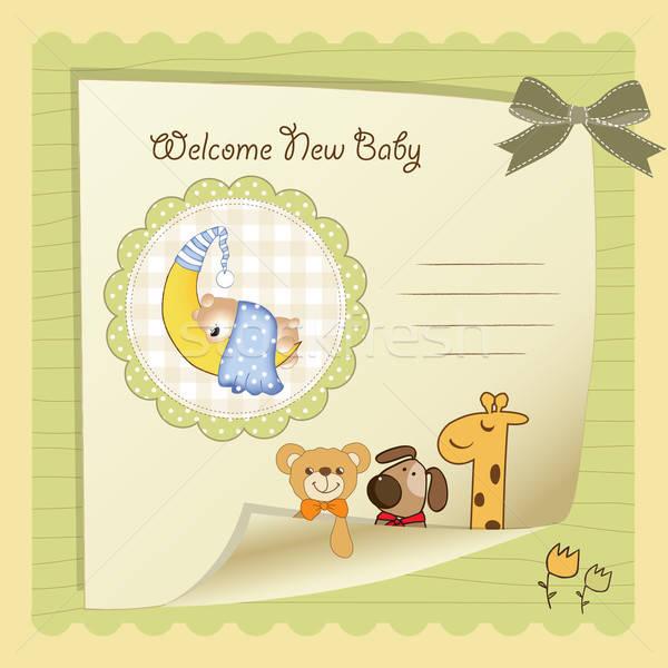 baby shower card Stock photo © balasoiu