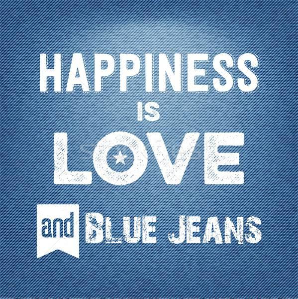 Mutluluk sevmek aktarmak vektör Stok fotoğraf © balasoiu