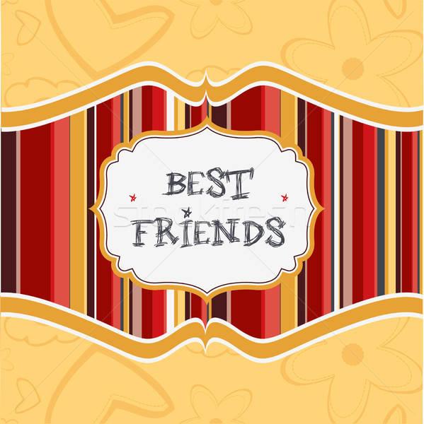 best friends card Stock photo © balasoiu